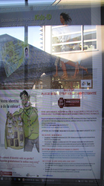 Affichage à la maison communale ce 20 avril (oups, j'ai oublié d'envoyer les images)