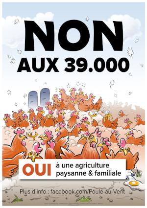 Une bonne nouvelle…pour les habitants d'Izier, l'environnement et le climat. Les 30.000 poules ne cocoteront pas de si tôt !