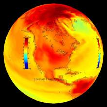 Dans notre région, la température s'est élevée de 1,6° en 5 ans, sans discontinuer , d'une manière on ne peut plus régulière.
